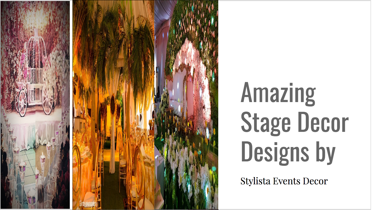 Stylista Events Decor and Rentals |Eventicles